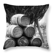 Waiting For Wine Season Throw Pillow