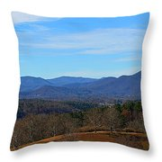 Waiting For Winter In The Blue Ridge Mountains Throw Pillow