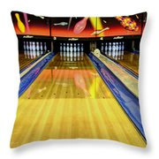 Waiting For You In The Alley Throw Pillow by Bob Christopher