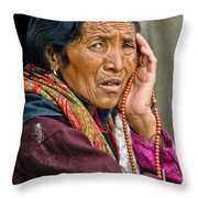 Waiting In Dharamsala For The Dalai Lama Throw Pillow