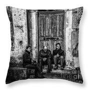 Waiting In Ravello Throw Pillow