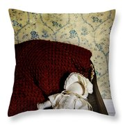 Waiting In The Crib Throw Pillow