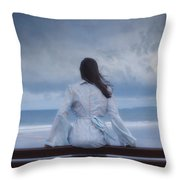 Waiting In The Wind Throw Pillow by Joana Kruse