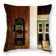 Waiting On A Call Throw Pillow
