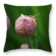 Waiting On Chive Throw Pillow