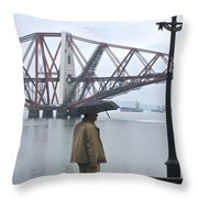 Waiting On High Street Throw Pillow