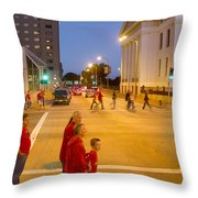 Waiting On Red Throw Pillow