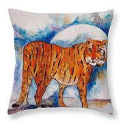 Waiting On The Moon Throw Pillow