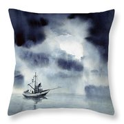 Waiting Out The Squall Throw Pillow