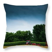 Waiting Out The Storms Throw Pillow by Christi Kraft
