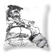 Waiting Room Nap Sketch Throw Pillow