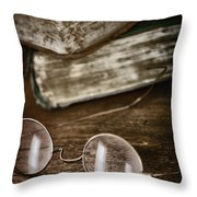 Waiting To Be Read I Throw Pillow