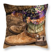 Waiting To Ride Throw Pillow