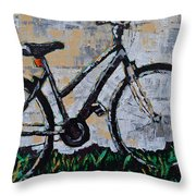 Waiting Throw Pillow by Vickie Warner