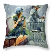 Waiting With Hope Throw Pillow