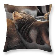 Wake Me When The Herring Arrive Throw Pillow by Randy Hall
