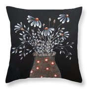 Wake Up And See The Flowers Throw Pillow