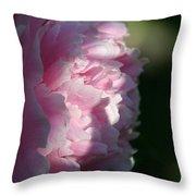 Wake Up Pink Peony Throw Pillow