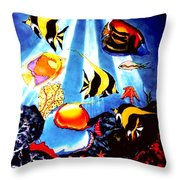 Waking Up In Oil Throw Pillow