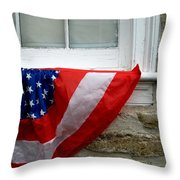 Waldschmidt Homestead And Bunting Throw Pillow