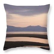 Tranquil Scene On Anglesey Coast Throw Pillow