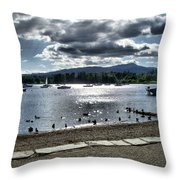 Wales On The Sea Throw Pillow