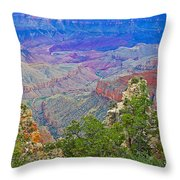 Walhala Overlook On North Rim Of Grand Canyon-arizona  Throw Pillow