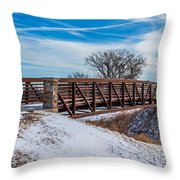 Walk Across Bridge Throw Pillow