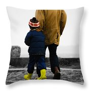 Walk Alongside Me Daddy Throw Pillow