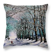 Walk Among The Trees Throw Pillow by Vickie Warner