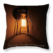 Walk In The Light Throw Pillow