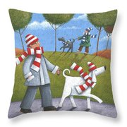 Walk In The Park Throw Pillow by Peter Adderley