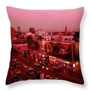 Walk Of Fame In Pink Throw Pillow