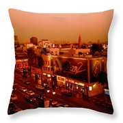 Walk Of Fame Hollywood In Orange Throw Pillow