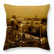 Walk Of Fame Hollywood In Sepia Throw Pillow