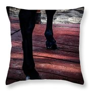Walk On Red Throw Pillow