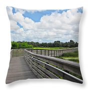 Walk On Wetlands Throw Pillow