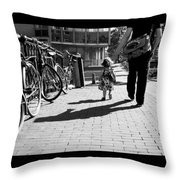 Walk Safely Little Girl  Throw Pillow