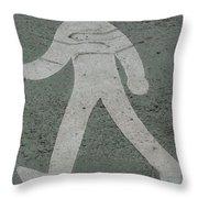 Walk This Way Throw Pillow