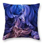 Walk Through The Petals Abstract Throw Pillow