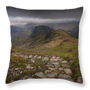 Walk To Hay Stacks Lake District Throw Pillow
