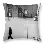 Walk Walk. New York. Throw Pillow