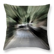 Walk Warp Throw Pillow