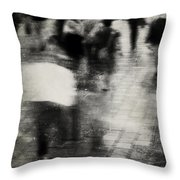 Walks Were Used Throw Pillow