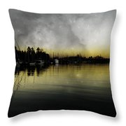 Walk With Stanley  Throw Pillow