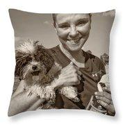 Walkies Sepia Throw Pillow by Steve Harrington