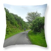 Walking A Lonely Road Throw Pillow