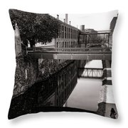 Walking Along The C And O Throw Pillow