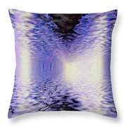 Walking Between Water Throw Pillow