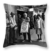 Walking Billboard Nevada Club Reno Nevada 1977 Throw Pillow